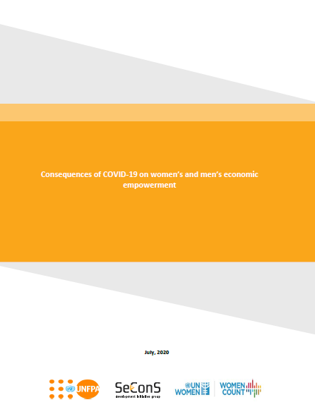 Consequences of COVID-19 on women's and men's economic empowerment